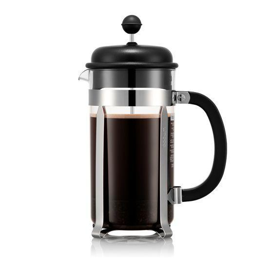 """But if he prefers something a little less fancy, this 34-ounce French press from Bodum should also help deliver his caffeine fix. $42, Amazon. <a href=""""https://www.amazon.com/Bodum-Caffettiera-Plastic-Stainless-34-Ounce/dp/B00008WU99"""" rel=""""nofollow noopener"""" target=""""_blank"""" data-ylk=""""slk:Get it now!"""" class=""""link rapid-noclick-resp"""">Get it now!</a>"""