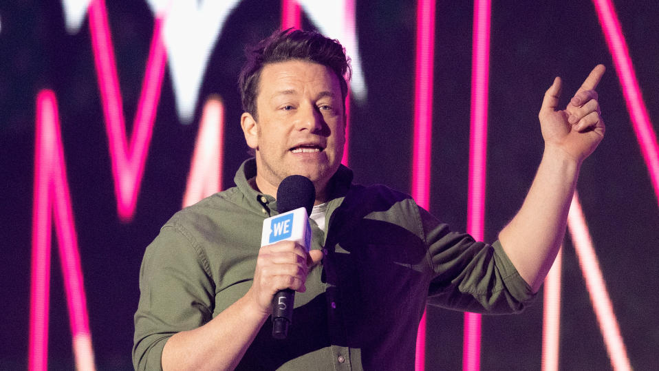 Jamie Oliver was the face of the campaign which led to turkey twizzlers being removed from school lunch menus. (Jo Hale/Redferns)