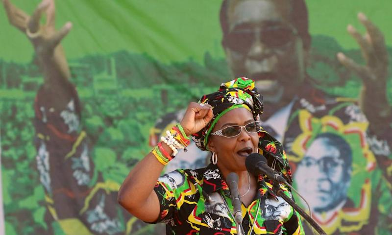 Grace Mugabe at a rally in Gweru, Zimbabwe.