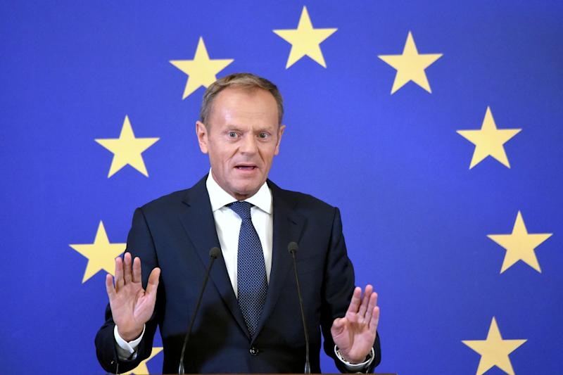 European Council President Donald Tusk has defended the backstop (AFP/Getty Images)
