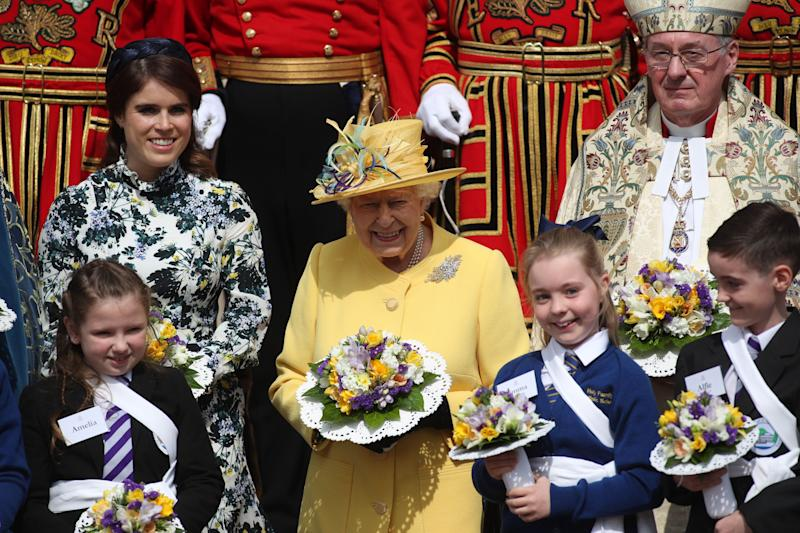 Princess Eugenie accompanies The Queen on royal engagement