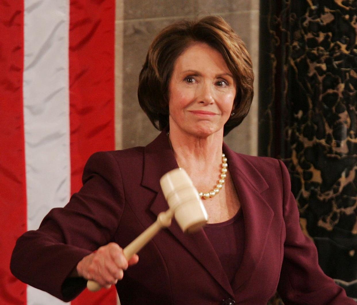Rep. Nancy Pelosi (D-Calif.) wields the gavel in 2007 as the first woman to serve as speaker of the House. (Photo: ASSOCIATED PRESS)