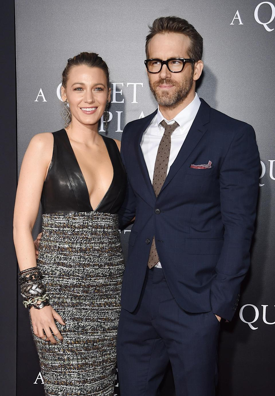 """The couple attended the premiere of """"A Quiet Place"""" Monday night. ((Photo: Jamie McCarthy/Getty Images)"""