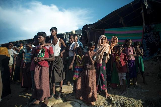 More than 500,000 Muslim Rohingya have run from communal bloodshed in Myanmar in the last six weeks and numbers are again rising (AFP Photo/FRED DUFOUR)