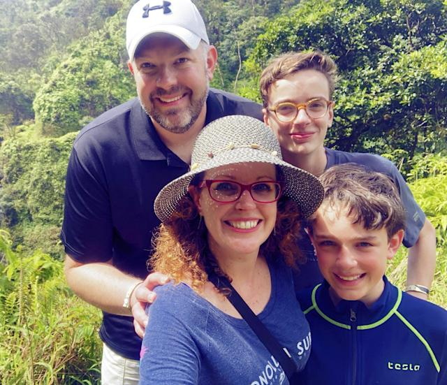 Tracy Callahan with her husband and their two boys. (Photo: Tracy Callahan)