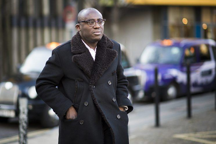 Edward Enninful during London Fashion Week in 2016