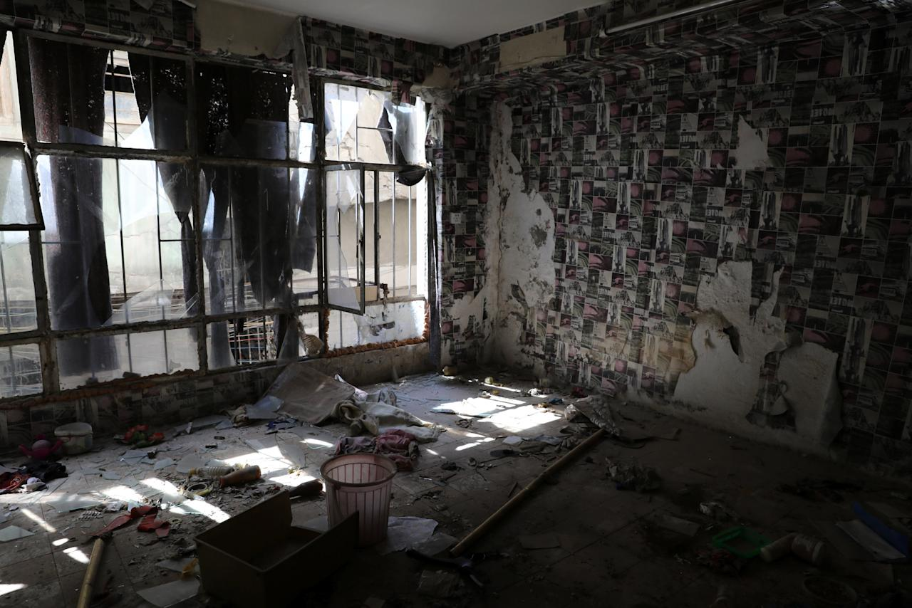 "A destroyed room inside an abandoned building is seen in western Mosul, Iraq, April 6, 2017. REUTERS/Andres Martinez Casares            SEARCH ""EMPTY CASARES"" FOR THIS STORY. SEARCH ""WIDER IMAGE"" FOR ALL STORIES.     TPX IMAGES OF THE DAY."
