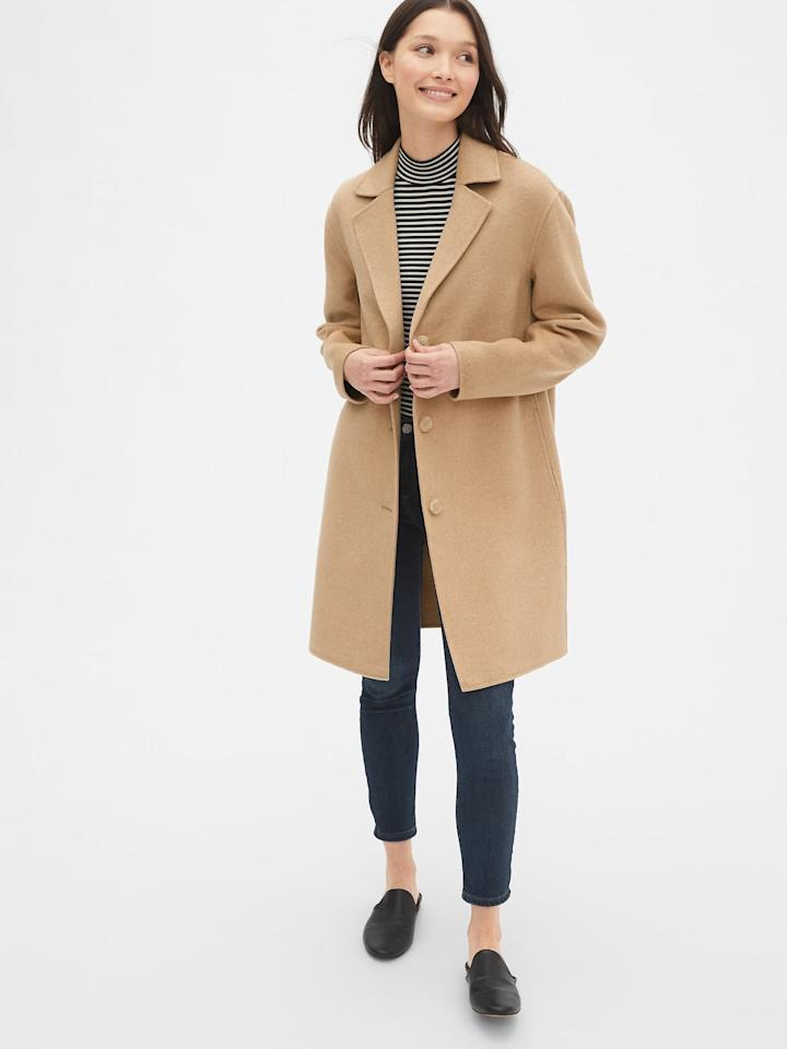 "<p>This timeless <a href=""https://www.popsugar.com/buy/Gap-Car-Coat-478722?p_name=Gap%20Car%20Coat&retailer=gap.com&pid=478722&price=228&evar1=fab%3Aus&evar9=46489263&evar98=https%3A%2F%2Fwww.popsugar.com%2Fphoto-gallery%2F46489263%2Fimage%2F46489267%2FGap-Car-Coat&list1=shopping%2Cfall%20fashion%2Cgap&prop13=api&pdata=1"" rel=""nofollow"" data-shoppable-link=""1"" target=""_blank"" class=""ga-track"" data-ga-category=""Related"" data-ga-label=""https://www.gap.com/browse/product.do?pid=473486012&amp;cid=8792&amp;pcid=8792&amp;grid=pds_12_138_1&amp;cpos=12&amp;cexp=1161&amp;cid=CategoryIDs%3D8792&amp;cvar=8262&amp;ctype=Listing&amp;cpid=res19081211494137791681167#pdp-page-content"" data-ga-action=""In-Line Links"">Gap Car Coat </a> ($228) will be in your closet for the next decade.</p>"