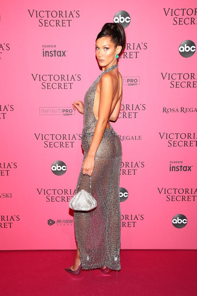 <p>Models like Bella Hadid, Candice Swanepoel, and Winnie Harlow  showed lots of skin at the Victoria's Secret Fashion Show after-party on Thursday night. Keep scrolling to see the most jaw-dropping naked looks from the pink carpet.</p>