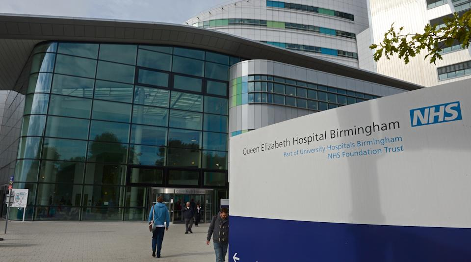 A general view of the Queen Elizabeth Hospital is pictured in Birmingham, central England on October 15, 2012. A teenage Pakistani rights activist was flown to Britain for specialist long-term care on Monday after being shot in the head by the Taliban for campaigning for the right to education. Malala Yousafzai, 14, who was attacked on her school bus in the former Taliban stronghold of the Swat valley last Tuesday, was sent abroad at a time when her condition is