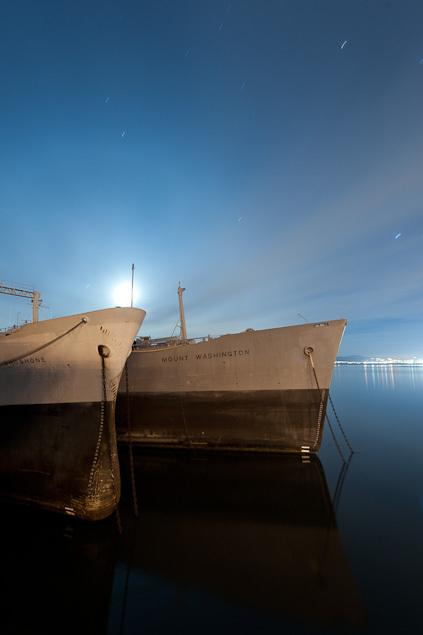 The empty ships served in World War II, the Korean War, the Vietnam War and the Gulf War.  (Photo courtesy Scott Haefner/Scotthaefner.com)