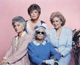 """<p>1985 began the biggest role of White's entire career: she started playing Rose Nylund on <em>The Golden Girls</em>, which also starred Bea Arthur, Estelle Getty, and McClanahan. <a href=""""http://www.today.com/id/39191142/ns/today-today_entertainment/t/betty-white-looks-back-golden-girls/"""" rel=""""nofollow noopener"""" target=""""_blank"""" data-ylk=""""slk:White was originally offered"""" class=""""link rapid-noclick-resp"""">White was originally offered </a>the role of Blanche and McClanahan was offered the role of Rose. </p>"""