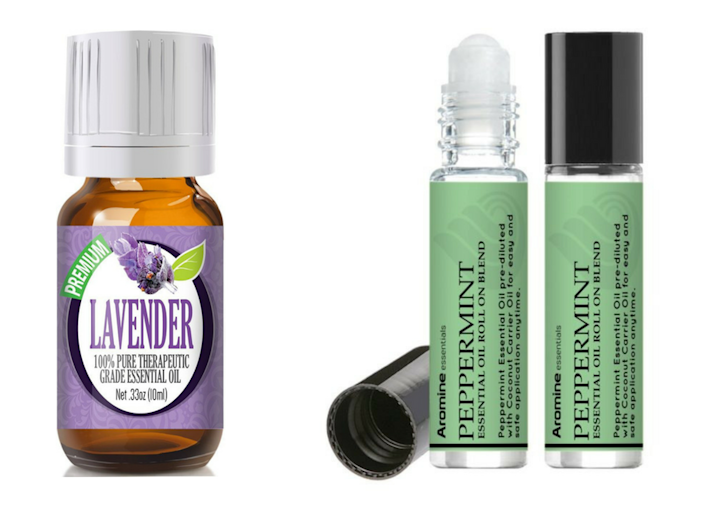 lavender essential oil and peppermint roll on essential oil