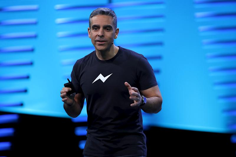 David Marcus, vice president of messaging products at Facebook, speaks on stage during the Facebook F8 conference in San Francisco, California April 12, 2016. REUTERS/Stephen Lam