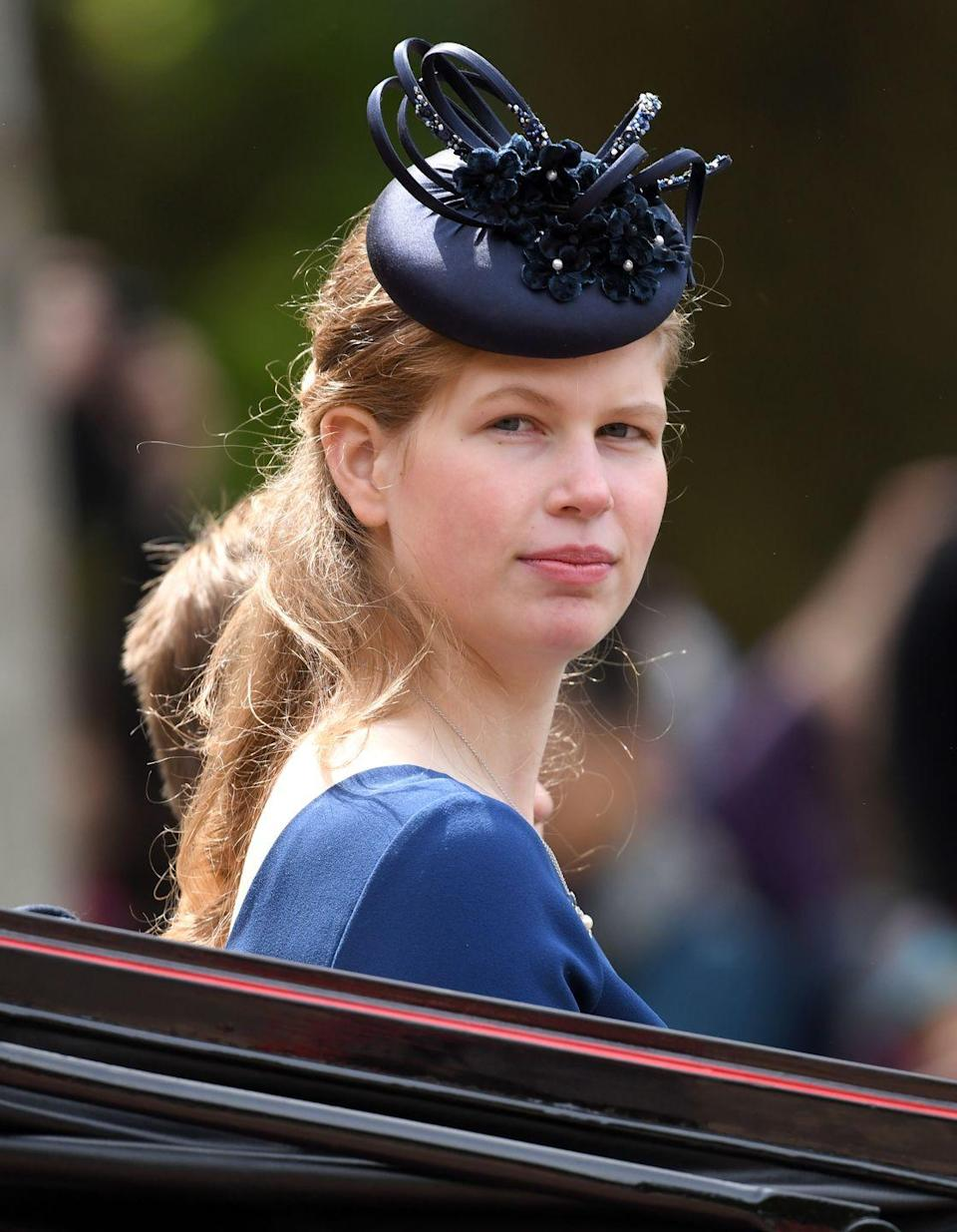 """<p><strong>Branch of the Family Tree: </strong>Daughter and oldest child of Prince Edward; granddaughter of Queen Elizabeth II</p><p><strong>More: </strong><a href=""""https://www.townandcountrymag.com/society/tradition/a14501238/lady-louise-windsor-facts/"""" rel=""""nofollow noopener"""" target=""""_blank"""" data-ylk=""""slk:Get to Know Lady Louise Here"""" class=""""link rapid-noclick-resp"""">Get to Know Lady Louise Here</a></p>"""