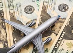 Plane on top of cash