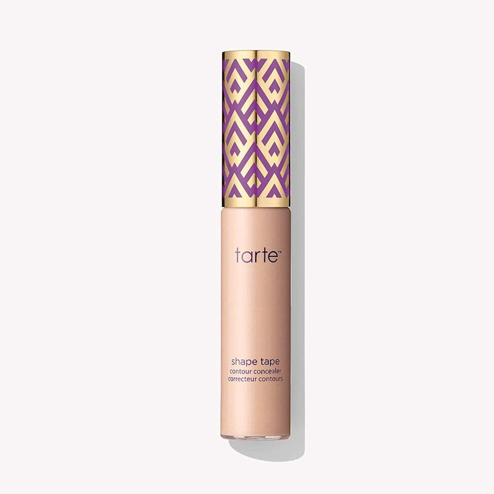 """<p>If you want a full-coverage concealer that melts into skin easily and seamlessly, go for the <a href=""""https://www.popsugar.com/buy/Tarte-Double-Duty-Beauty-Shape-Tape-Contour-Concealer-559878?p_name=Tarte%20Double-Duty%20Beauty%20Shape%20Tape%20Contour%20Concealer&retailer=amazon.com&pid=559878&price=37&evar1=bella%3Aus&evar9=46398513&evar98=https%3A%2F%2Fwww.popsugar.com%2Fphoto-gallery%2F46398513%2Fimage%2F46398538%2FBest-Concealer-Easy-Blending&list1=makeup%2Cbeauty%20products%2Cconcealer&prop13=api&pdata=1"""" class=""""link rapid-noclick-resp"""" rel=""""nofollow noopener"""" target=""""_blank"""" data-ylk=""""slk:Tarte Double-Duty Beauty Shape Tape Contour Concealer"""">Tarte Double-Duty Beauty Shape Tape Contour Concealer</a> ($37). You'll be blown away by how natural it looks on, no matter how much you choose to apply. </p>"""