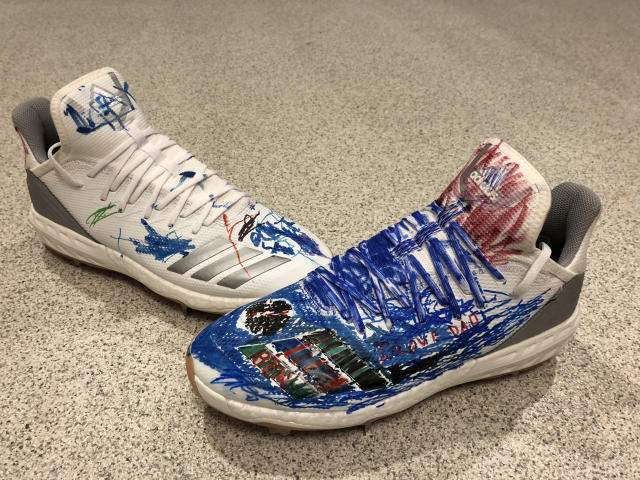 Chase Utley's two young sons helped design the shoes he will wear on Father's Day. (Photo courtesy Jon SooHoo)