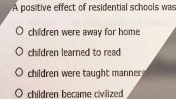 Alberta education minister apologizes after test asks students about 'positive effect' of residential schools