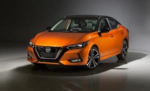 The 2020 Sentra is built on a new platform that provides greatly improved proportions and stance – about two inches lower and two inches wider than the previous generation. The exterior also incorporates Nissan's latest design language found on its other dramatic sedans, including its signature V-motion grille, thin LED headlamps and floating roof.