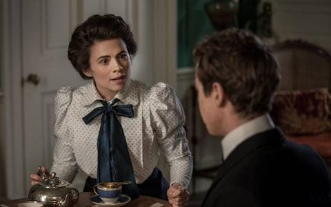 Something to say? Hayley Atwell as Margaret Schlegel - Credit: BBC