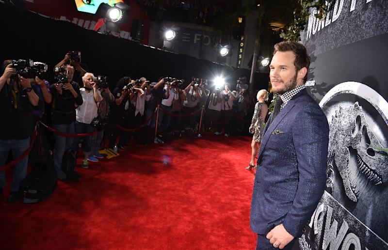"""Actor Chris Pratt attends the Universal Pictures' """"Jurassic World"""" premiere at the Dolby Theatre on June 9, 2015 in Hollywood, California"""