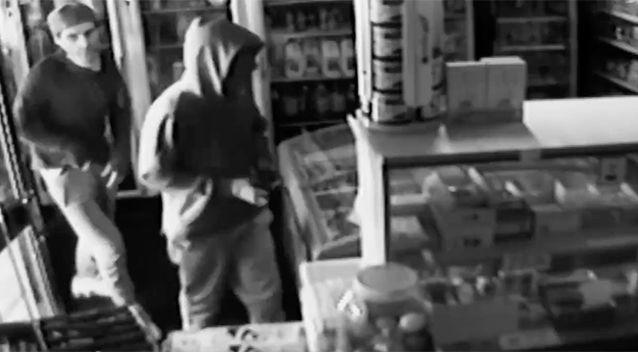One robber needed some help with his balaclava. Source: Victoria Police