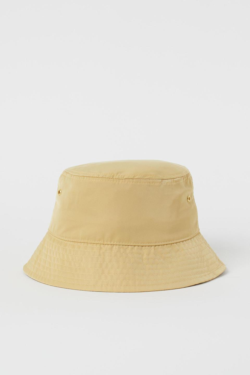 <p>This <span>H&amp;M Bucket Hat</span> ($13) pops in a subtle yet uplifting hue.</p>