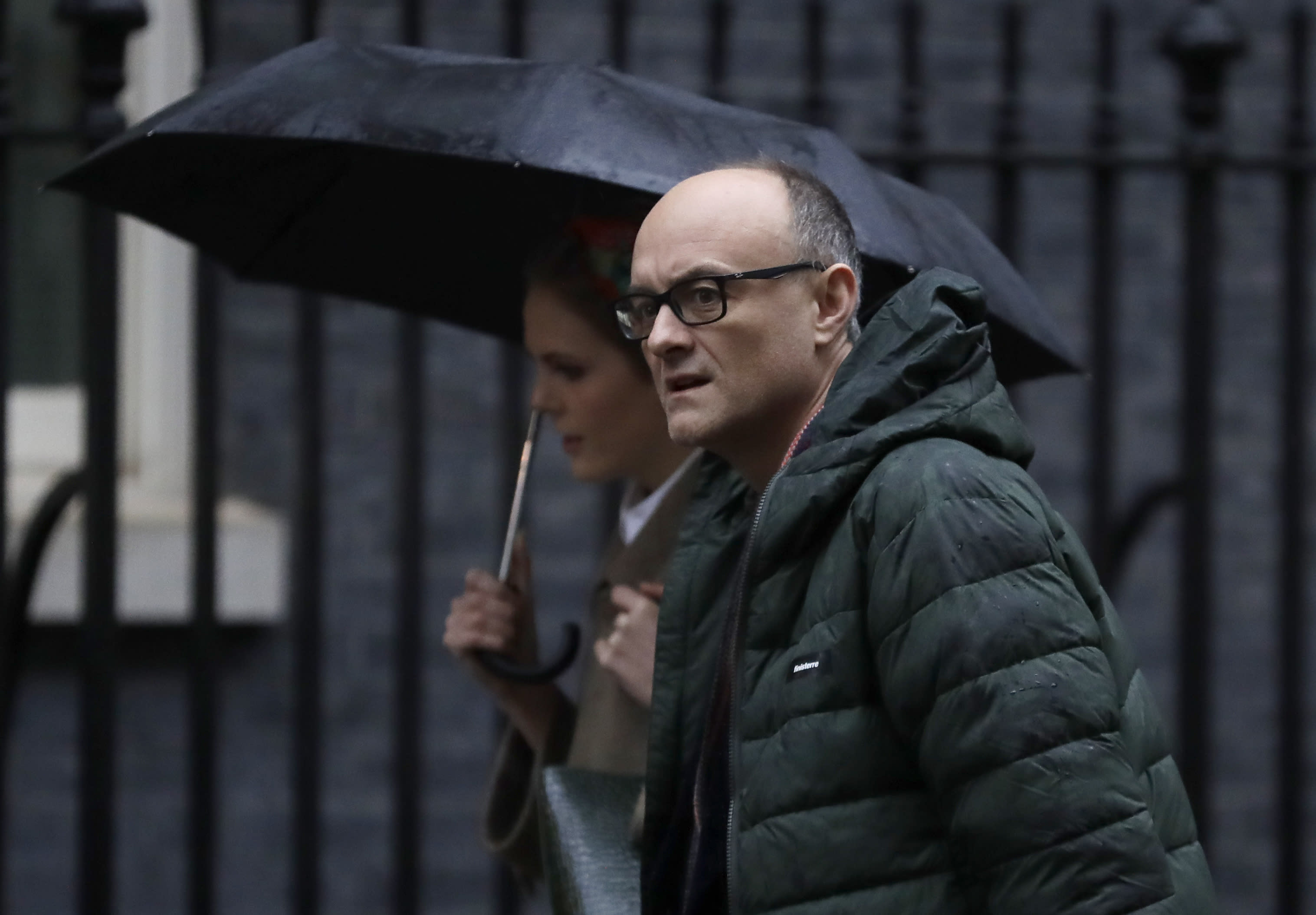 Dominic Cummings, political advisor to Britain's Prime Minister Boris Johnson, arrives at Downing Street in London, Friday, Dec. 20, 2019. (AP Photo/Kirsty Wigglesworth)