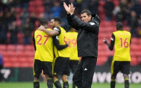 Javi Gracia, Manager of Watford applauds fans after following the Premier League match between Watford FC and Crystal Palace at Vicarage Road - Credit: Michael Regan/Getty