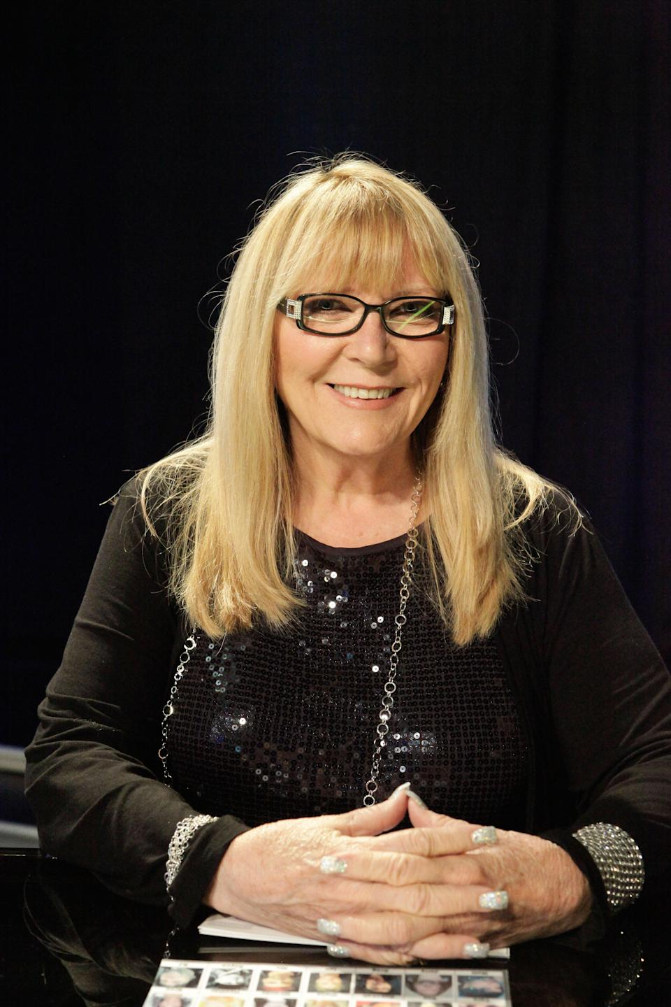 <em>Beetlejuice</em> makeup artist Ve Neill appearing as a judge on the Syfy special effects makeup competition <em>Face Off.</em> (Photo: Nicole Wilder/Syfy/Courtesy of Everett Collection)