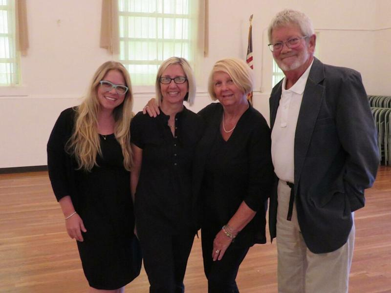 Haley Woods with her family who encouraged her to pay off her debt. Pictured in May 2017: Woods, sister Heather P. Woods-Spiegel, mother Chris Woods, and father Buzz Woods | Courtesy Haley Woods