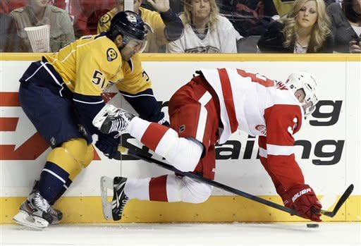 Kostitsyns connect in Predators' win over Wings