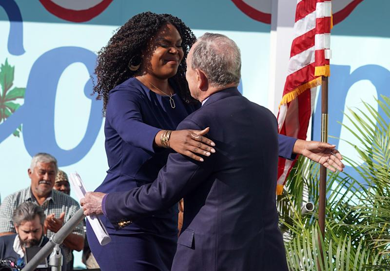 Aja Brown and Mike Bloomberg