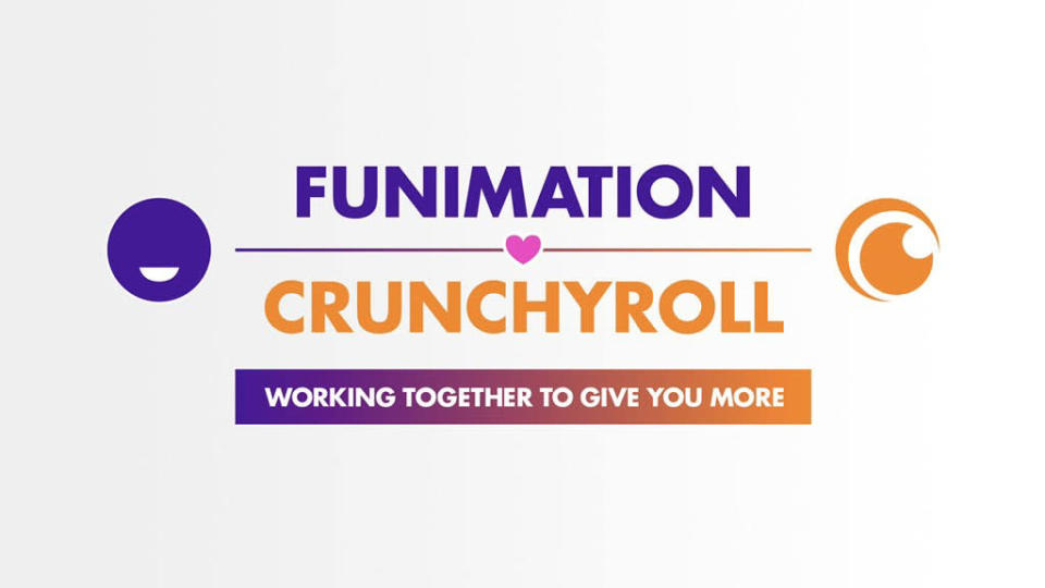 Key art for the Funimation acquistion of Crynchyroll