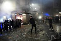 Protestors and police clashed in the Spanish city of Barcelona over new coronavirus restrictions
