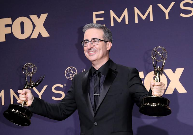 Pictured: John Oliver at the Emmys. Image: Getty