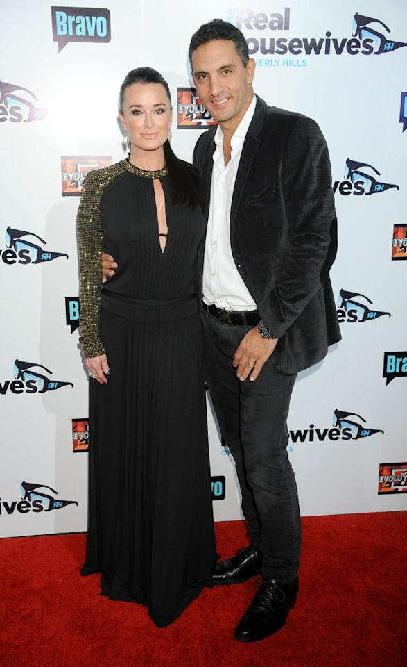 "Kyle Richards and Mauricio Umansky arrive at ""The Real Housewives Of Beverly Hills"" Season 3 premiere party at the Hollywood Roosevelt Hotel on October 21, 2012 in Hollywood, California."