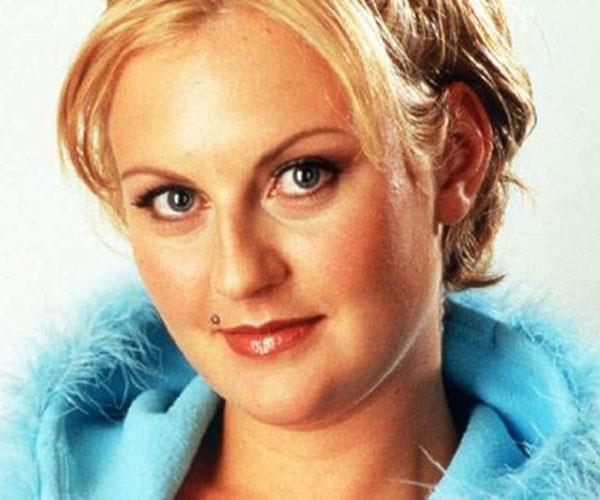 Sara-Marie's Big Brother promo pic from 2001 sporting her peroxide-blonde hair. Source: Supplied