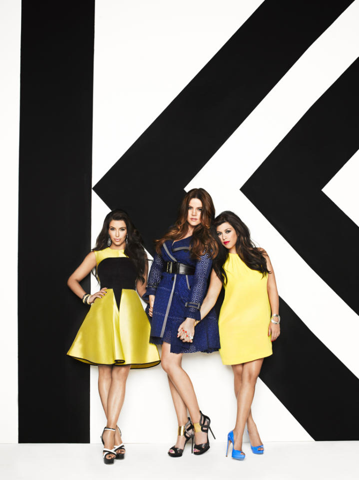"Kim Kardashian, Khloé Kardashian Odom and Kourtney Kardashian star in season 7 of ""Keeping Up With the Kardashians."""