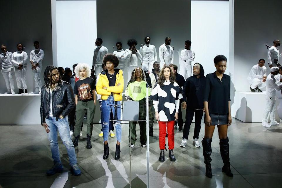 <p>The all black model cast at the Pyer Moss FW18 show. (Photo: Getty) </p>