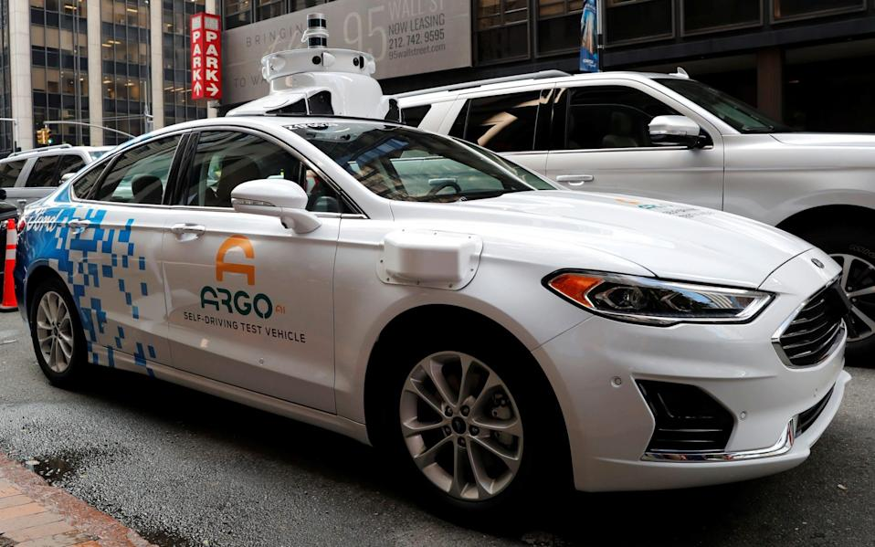 A Ford Argo AI self-driving prototype car - REUTERS
