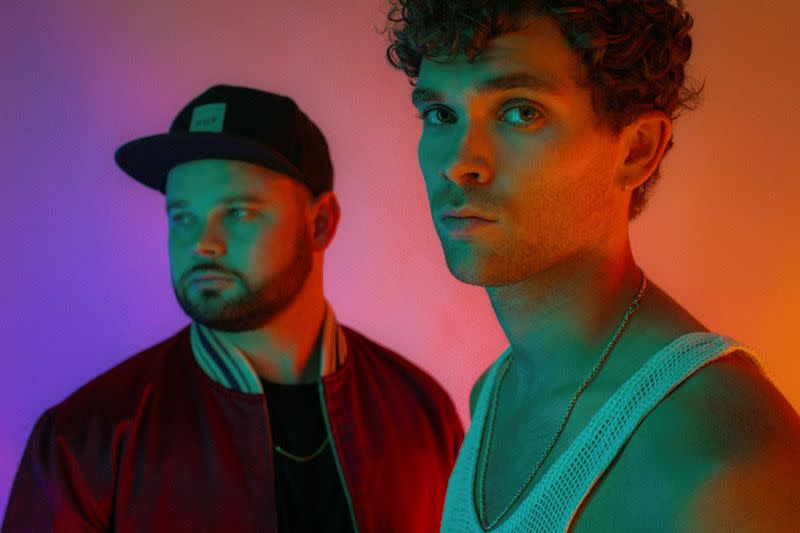 Members of the band Royal Blood Mike Kerr and Ben Thatcher