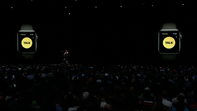 A new feature for watchOS5, called Walkie Talkie, lets Apple Watch users talk to one another over cellular or WiFi.