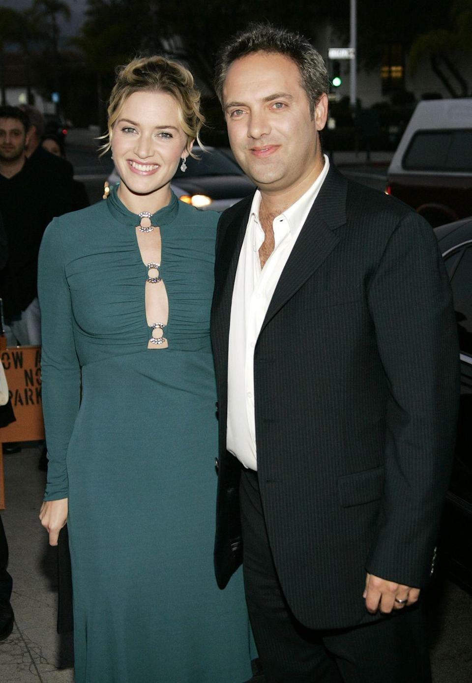 """<p>Winslet was married to director Jim Threapleton in her early twenties and then Mendes (pictured) from 2003 until 2010. When asked about her two divorces in an interview for <em><a href=""""http://www.wsj.com/articles/kate-winslet-stars-in-the-highly-anticipated-film-steve-jobs-1443621106"""" rel=""""nofollow noopener"""" target=""""_blank"""" data-ylk=""""slk:WSJ Magazine"""" class=""""link rapid-noclick-resp"""">WSJ Magazine</a></em>, she responded: """"I know lots of people who are not in the public eye who have gone through several marriages...And f**k me, it hasn't been easy, you know."""" Tell 'em, Kate.</p>"""