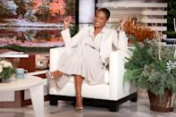 """<p>Tiffany Haddish guest hosts <em>The Ellen DeGeneres Show</em> on Friday in Burbank, California, and chats about boyfriend Common being featured in <a href=""""https://people.com/tag/sexiest-man-alive/"""" rel=""""nofollow noopener"""" target=""""_blank"""" data-ylk=""""slk:PEOPLE's Sexiest Man Alive"""" class=""""link rapid-noclick-resp"""">PEOPLE's Sexiest Man Alive</a> issue.</p>"""