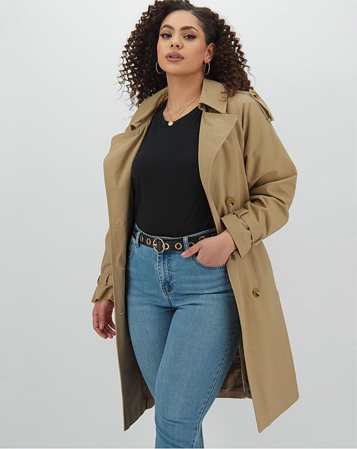 """<br><br><strong>Simply Be</strong> Cotton Rich Camel Longline Double Breasted Trench Coat, $, available at <a href=""""https://www.simplybe.co.uk/shop/cotton-rich-camel-longline-double-breasted-trench-coat/DY616/product/details/show.action?pdBoUid=3014"""" rel=""""nofollow noopener"""" target=""""_blank"""" data-ylk=""""slk:Simply Be"""" class=""""link rapid-noclick-resp"""">Simply Be</a>"""