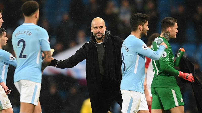 Pep Guardiola BLASTS referee over Leroy Sane injury