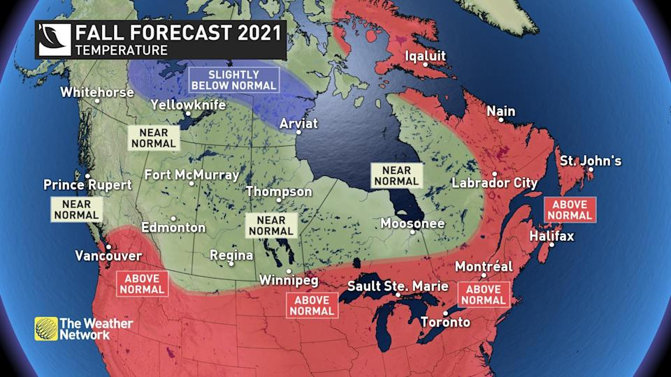 National temperatures (Fall Forecast)