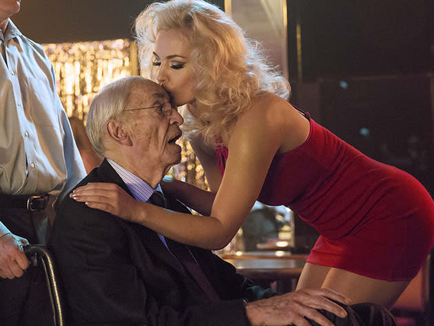 """Anna Nicole"" - Martin Landau (""J. Howard Marshall"") and Agnes Brucker (""Anna Nicole Smith"")"